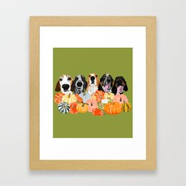 Coonhounds and Gourd Framed Art Print
