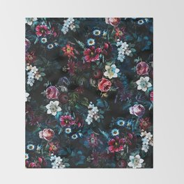 NIGHT GARDEN XI Throw Blanket