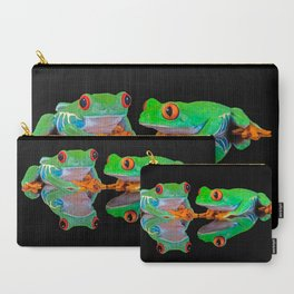 DOUBLE MIRROR FROGGINESS Carry-All Pouch