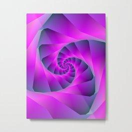 Pink and Blue Spiral Metal Print