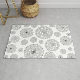 Stylish circles print Rug