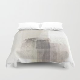 Beige and Brown Minimalist Abstract Painting Duvet Cover