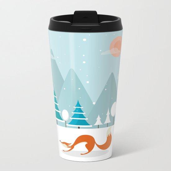 The Fox Is Back Metal Travel Mug