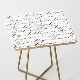Inspirational Words II Side Table