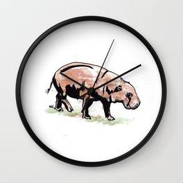 Pigmy Hippo Wall Clock