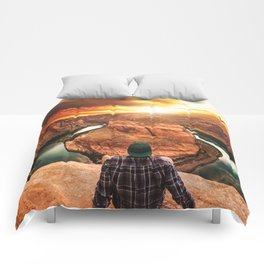 on top of canyonlands Comforters