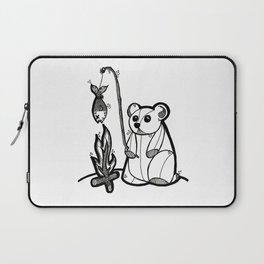 Fishing Bear Laptop Sleeve