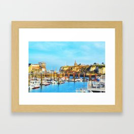 Dieppe Harbour Framed Art Print