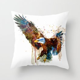 Free and Deadly Eagle Throw Pillow