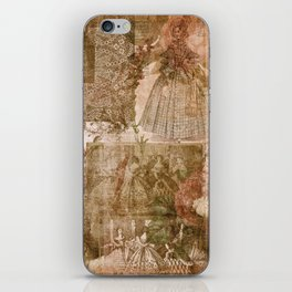 Vintage & Shabby Chic - Victorian ladies pattern iPhone Skin