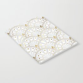 marble and gold art deco scales pattern Notebook