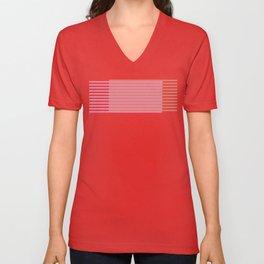 Chevron and Stripes Unisex V-Neck