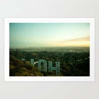 hollywood Art Prints featuring hollywood by Laura Murchie