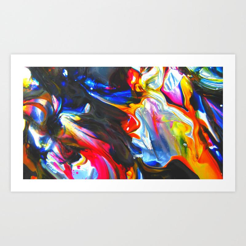 Cellophane Flowers Art Print