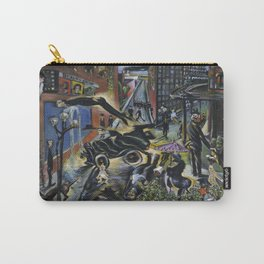 American Masterpiece 'Automobile Accident' by Howard Taft Lorenz Carry-All Pouch