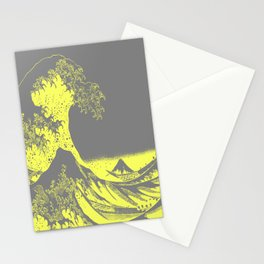The Great Wave Yellow & Gray Stationery Cards
