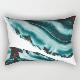 Turquoise Brown Agate #1 #gem #decor #art #society6 Rectangular Pillow