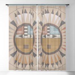 American Native Pattern No. 45 Sheer Curtain