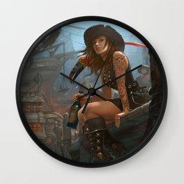 Pirate Haven Tortuga Wall Clock