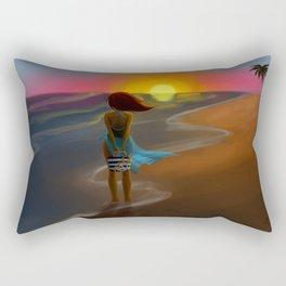 By the beautiful sea Rectangular Pillow