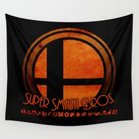 super smash bros Wall Tapestries featuring Super Smash Bros.  by Donkey Inferno