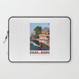 1937 France Evian-Les-Bains Travel Poster Laptop Sleeve
