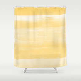 Yellow Watercolor Abstract Minimalism #1 #minimal #painting #decor #art #society6 Shower Curtain