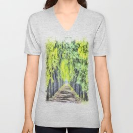 Forest Path Watercolour Art Unisex V-Neck