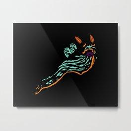 Neon Nudibranch Metal Print