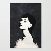 audrey Canvas Prints featuring Audrey by EISENHART