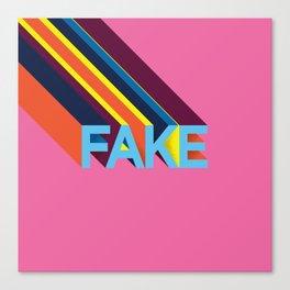 FAKE Canvas Print