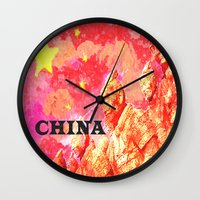 china Wall Clocks featuring China by Brian Raggatt