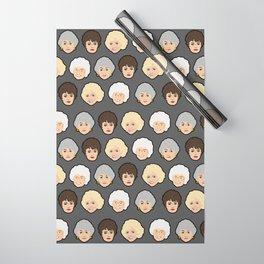 Golden Girls Grey Pop Art Wrapping Paper
