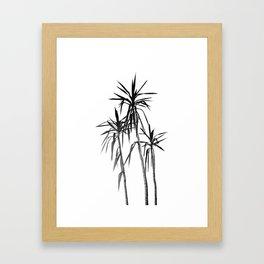 Palm Trees - White Cali Summer Vibes #1 #decor #art #society6 Framed Art Print