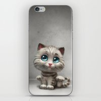 kitten iPhone & iPod Skins featuring Kitten by Antracit