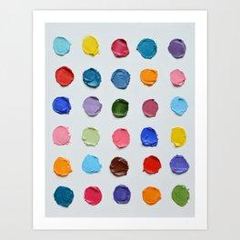 Rainbow Polka Daubs Art Print