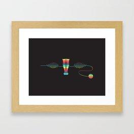 Knee-Socks Framed Art Print