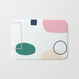 Going to be happy - on white backgroung Bath Mat