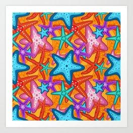 Starfish Pattern Design 2 Art Print