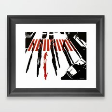La malette rouge Framed Art Print