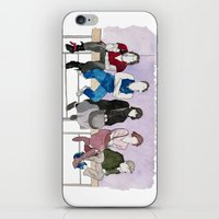 the breakfast club iPhone & iPod Skins featuring The Breakfast Club by DJayK