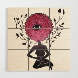 Divine Flower Woman Wood Wall Art