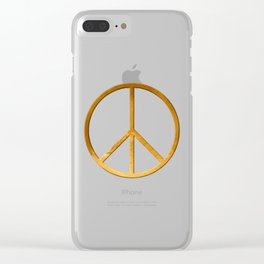 P E A C E - Symbol Clear iPhone Case
