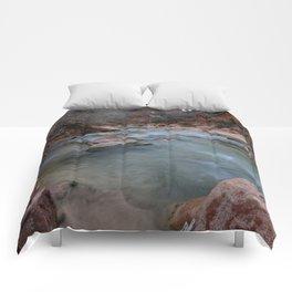 Virgin_River in Winter - Zion_National_Park Comforters