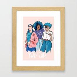 International Women's Day 2018 illustration Framed Art Print