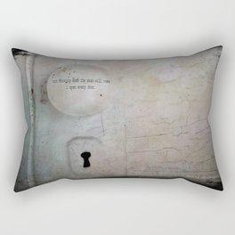 Open Every Door Rectangular Pillow