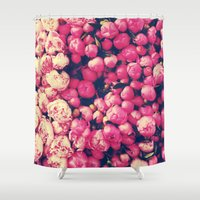 peonies Shower Curtains featuring Peonies by Sasha H
