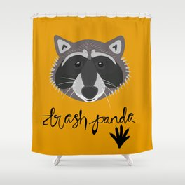 Trash Panda: Raccoon Shower Curtain