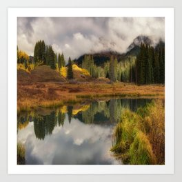 Transition Of The Seasons in Rocky Mountain Art Print