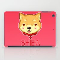shiba inu iPad Cases featuring SHIBA INU LOVE by giaj